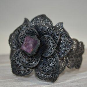 TVD Copper Electroformed Rose Fluorite Bracelet